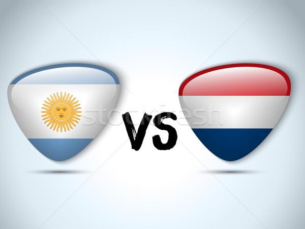 Argentina versus Netherlands Flag Soccer Game Stock photo © gubh83