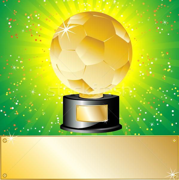 Dourado bola futebol troféu campeão Foto stock © gubh83