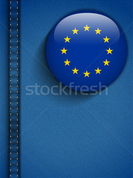 Europe Flag Button in Jeans Pocket Stock photo © gubh83