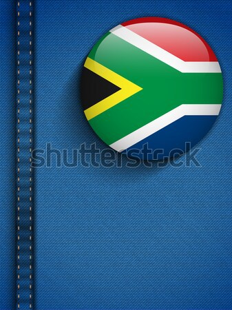 Gay Flag Button on Jeans Fabric Texture South Africa Stock photo © gubh83
