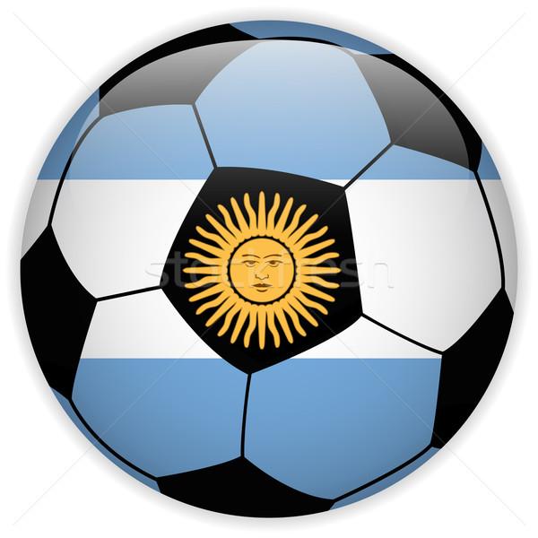 Argentyna banderą piłka wektora świat piłka nożna Zdjęcia stock © gubh83