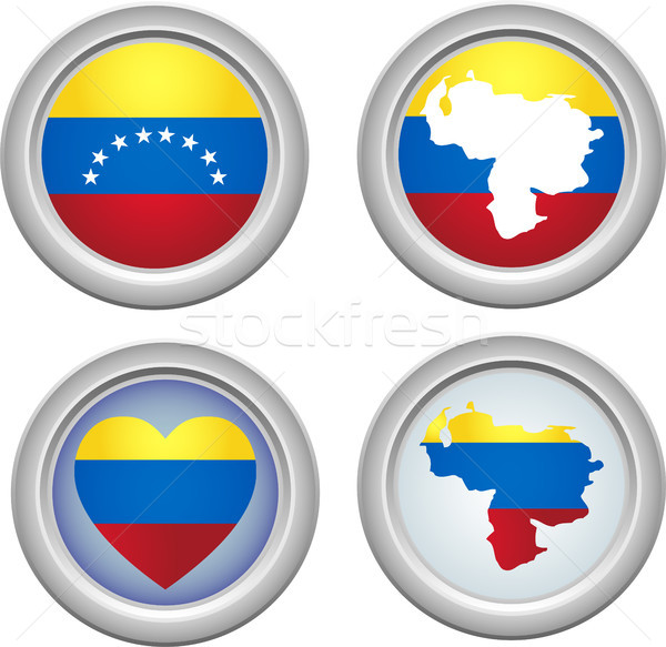 Venezuela Buttons Stock photo © gubh83