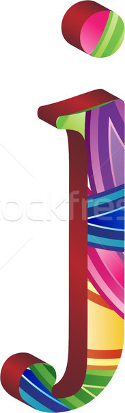 Stock photo: Colored alphabet with spikes and leaves