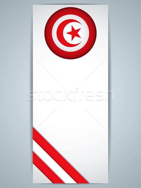Tunus ülke ayarlamak afişler vektör soyut Stok fotoğraf © gubh83