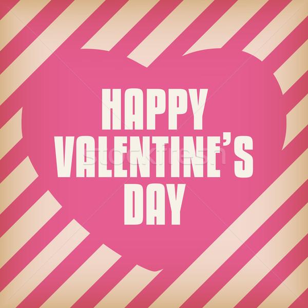 Valentijn dag hart retro vector bruiloft Stockfoto © gubh83