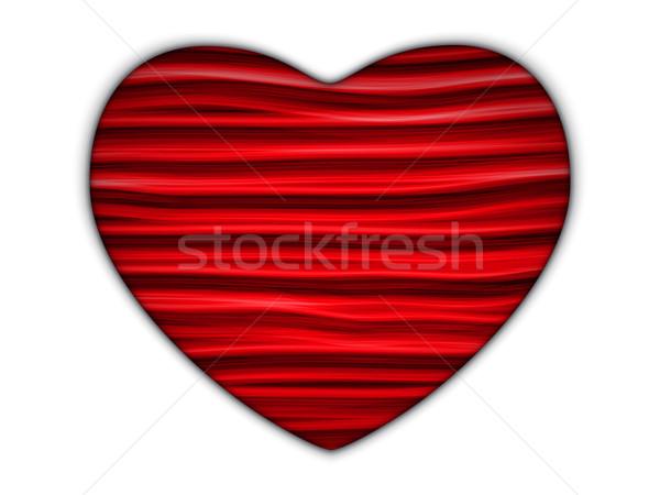 скрытый белый сердце геометрический красный вектора Сток-фото © gubh83