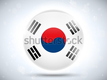 South Korea Flag Glossy Button Stock photo © gubh83