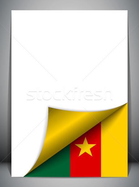 Kamerun kraju banderą strona wektora podpisania Zdjęcia stock © gubh83