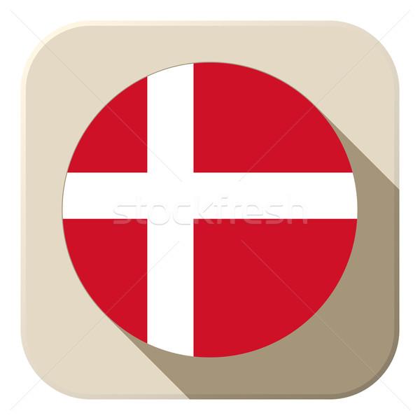 Denemarken vlag knop icon moderne vector Stockfoto © gubh83