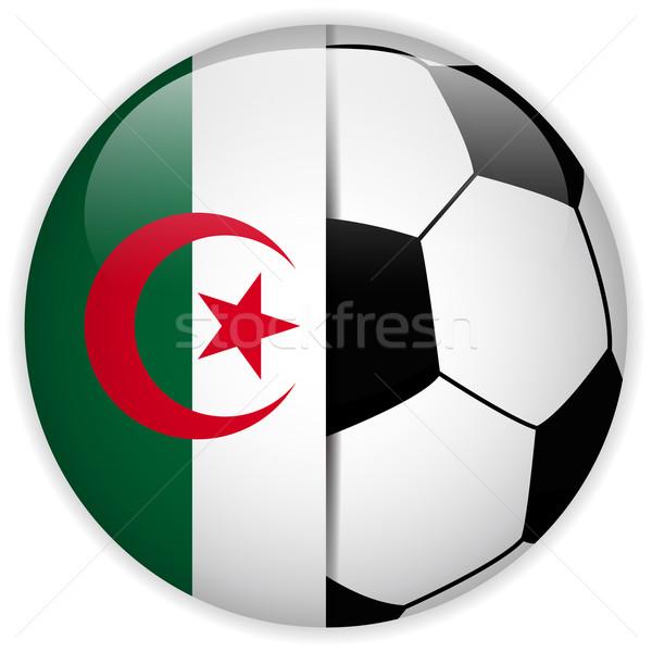 Алжир флаг футбольным мячом вектора Мир футбола Сток-фото © gubh83
