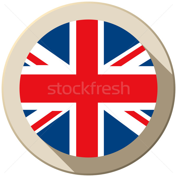 UK Flag Button Icon Modern Stock photo © gubh83