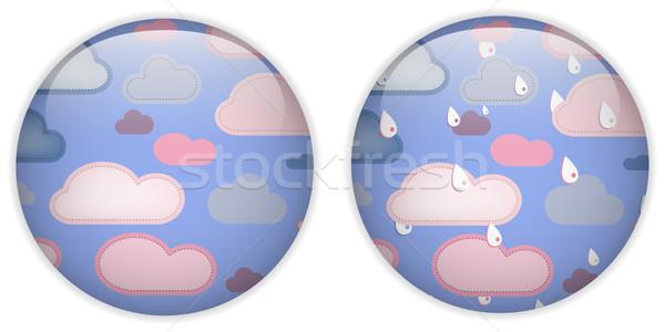 Sevimli ikon düğme vektör dizayn Stok fotoğraf © gubh83