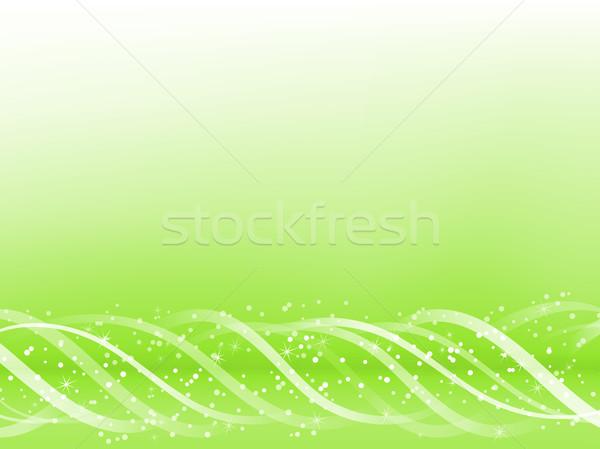 Stok fotoğraf: Yeşil · renkli · hatları · düzenlenebilir · soyut