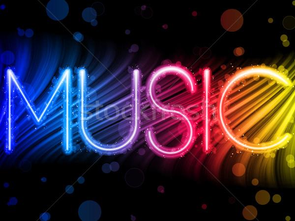 Stockfoto: Muziek · partij · abstract · kleurrijk · golven · zwarte