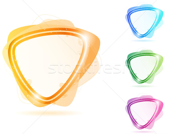 Colorful Neon Bubble Frame Triangle Stock photo © gubh83