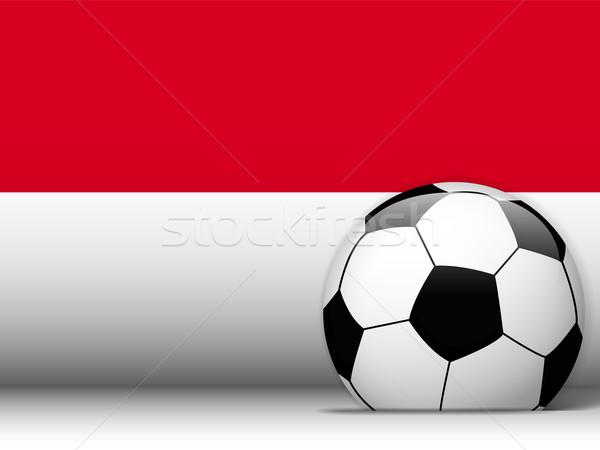Монако футбольным мячом флаг вектора дизайна Мир Сток-фото © gubh83