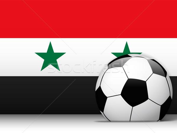 Syrië voetbal vlag vector ontwerp wereld Stockfoto © gubh83