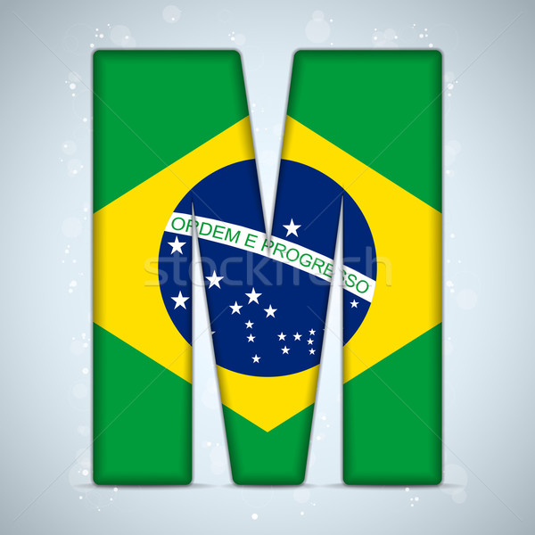 Brazil Flag Brazilian Alphabet Letters Words Stock photo © gubh83