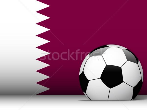 Катар футбольным мячом флаг вектора дизайна футбола Сток-фото © gubh83