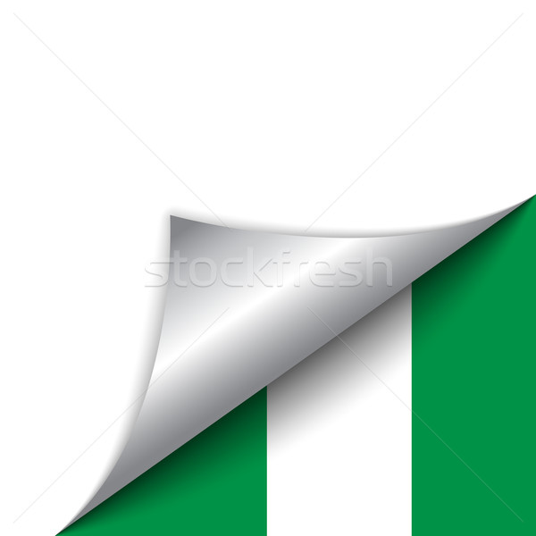 Foto stock: Nigéria · país · bandeira · página · vetor · assinar