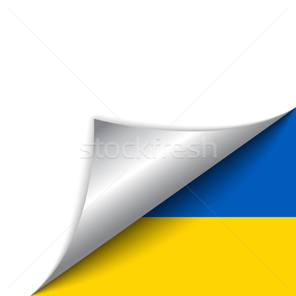 Ucrânia país bandeira página vetor projeto Foto stock © gubh83