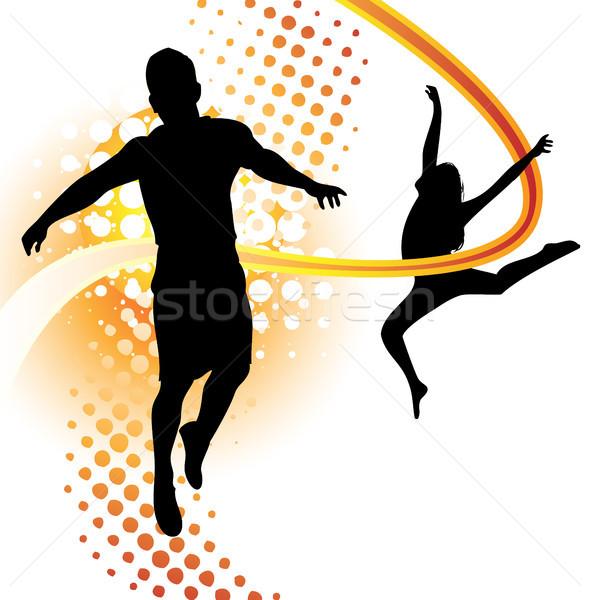 мальчика девушки танцы прыжки женщину Сток-фото © gubh83