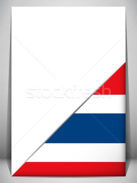 Tayland ülke bayrak sayfa imzalamak seyahat Stok fotoğraf © gubh83