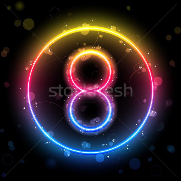Número arco-íris luzes brilho vetor festa Foto stock © gubh83