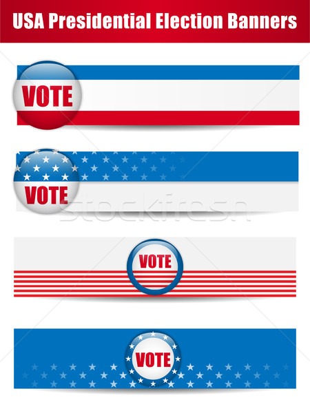 Vote Banners. Set of four with Background Stock photo © gubh83