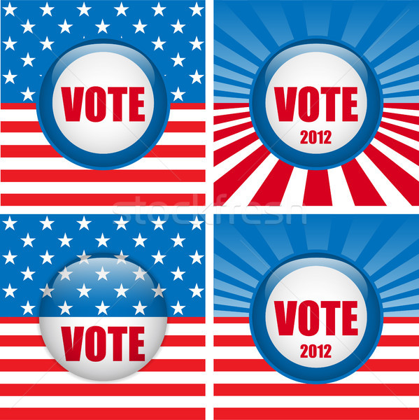 Vote Buttons. Set of four with Background Stock photo © gubh83