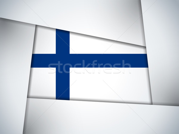Finlandiya ülke bayrak geometrik vektör iş Stok fotoğraf © gubh83