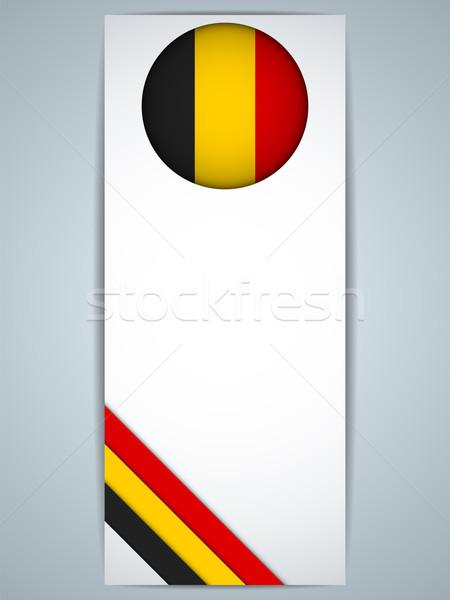 België land ingesteld banners vector abstract Stockfoto © gubh83