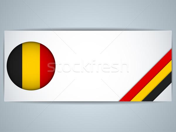 Belgia kraju zestaw banery wektora działalności Zdjęcia stock © gubh83