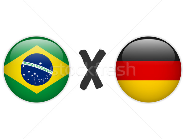 Germany versus Brazil Flag Soccer Game Stock photo © gubh83