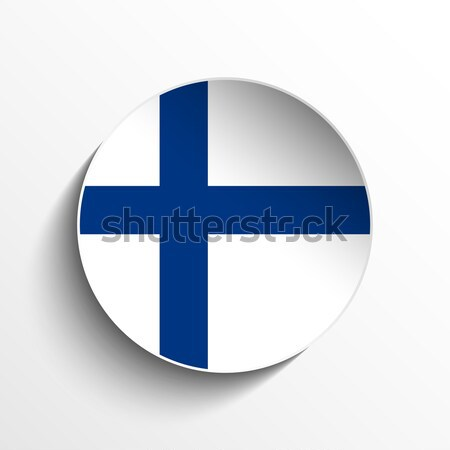 Finland Flag Paper Circle Shadow Button Stock photo © gubh83