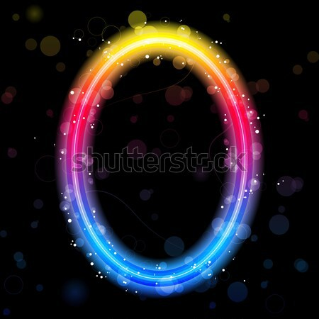 Alfabe gökkuşağı ışıklar parıltı vektör parti Stok fotoğraf © gubh83