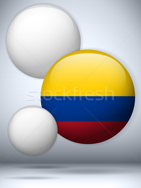Colombia Flag Glossy Button Stock photo © gubh83