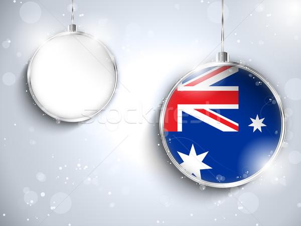 Alegre natal prata bola bandeira Austrália Foto stock © gubh83