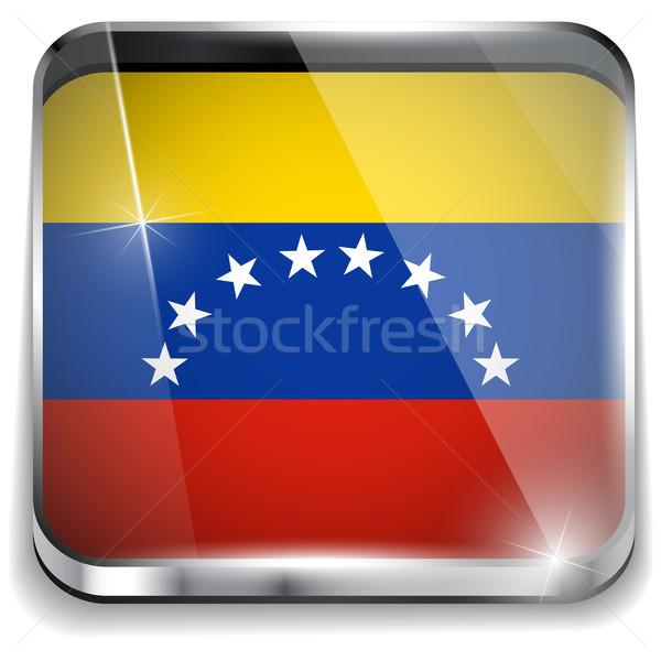 Venezuela bayrak uygulama kare düğmeler Stok fotoğraf © gubh83