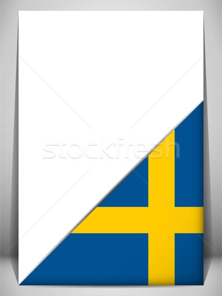 Szwecja kraju banderą strona podpisania podróży Zdjęcia stock © gubh83