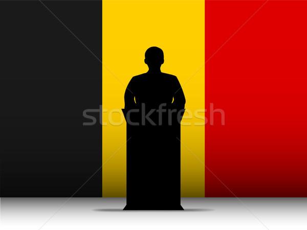 Belgium beszéd sziluett zászló vektor férfi Stock fotó © gubh83
