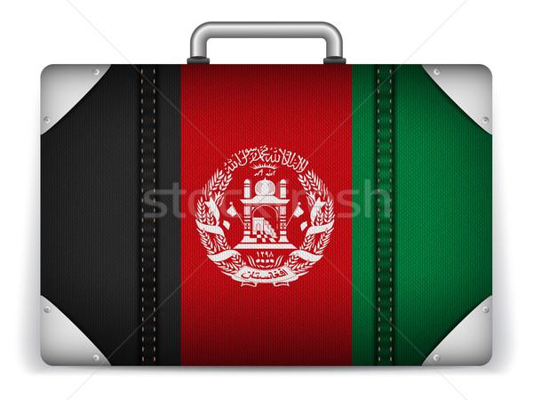 Afganisztán utazás csomagok zászló vakáció vektor Stock fotó © gubh83