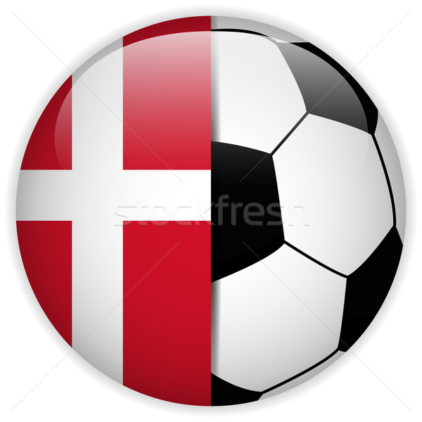 Dinamarca bandera balón de fútbol vector mundo fútbol Foto stock © gubh83