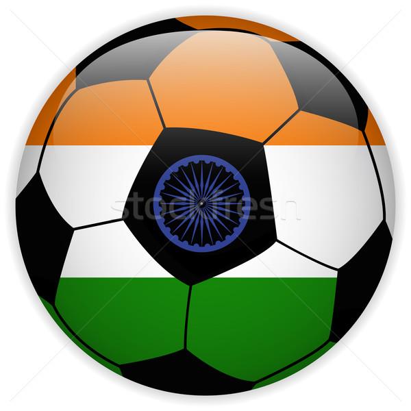 India bandera balón de fútbol vector mundo fútbol Foto stock © gubh83