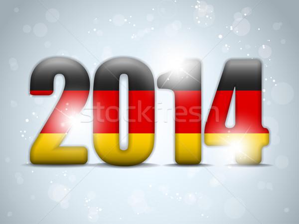 Niemcy 2014 banderą wektora tle zespołu Zdjęcia stock © gubh83