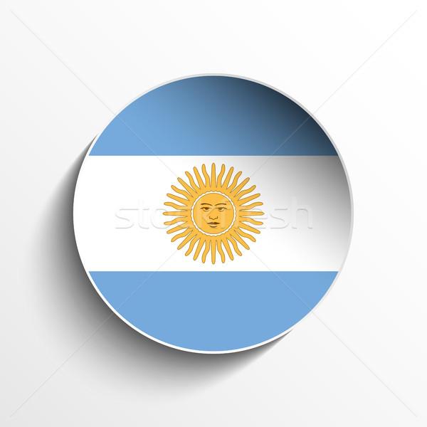 Argentine pavillon papier cercle ombre bouton Photo stock © gubh83