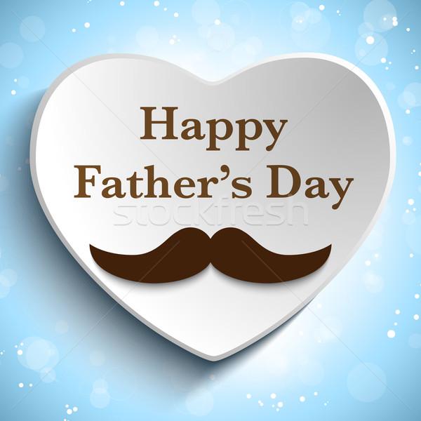Stok fotoğraf: Mutlu · baba · gün · bıyık · sevmek · vektör