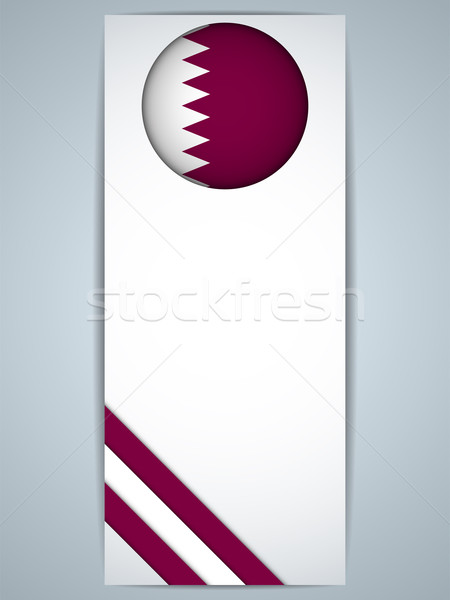 Katar vidék szett bannerek vektor absztrakt Stock fotó © gubh83