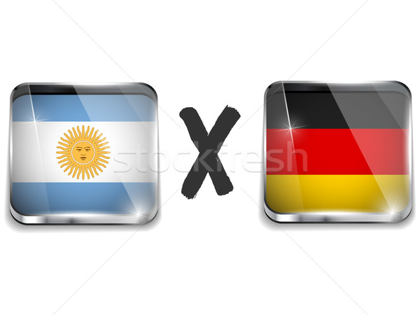 Argentina versus Germany Flag Soccer Game Stock photo © gubh83