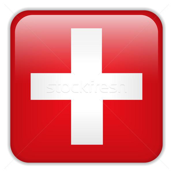 Suíça bandeira aplicação praça botões Foto stock © gubh83
